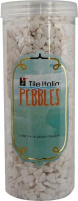 Tile Italia Pebbles White Polished Chips Polished Angular Quartz Stone