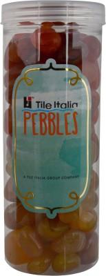 Tile Italia Pebbles Onyx Yellow & Carnallion Pebbles Polished Round Onyx Pebbles
