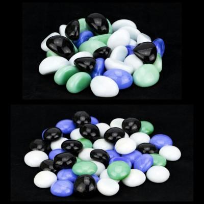 Zeva PBST006 Polished Round Flint, Marble Pebbles(Multicolor 80 Pieces)