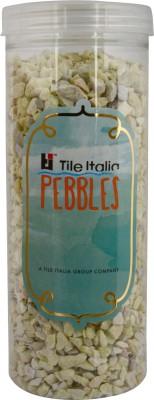 Tile Italia Pebbles Lemon Yellow Unpolished Chips Polished Angular Limestone Stone