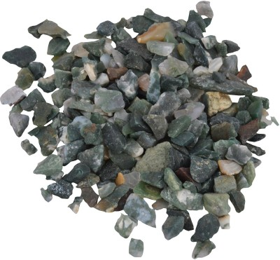 Decor Pebbles SP0FM43 Polished Asymmetrical Marble Pebbles(Green 2 kg)