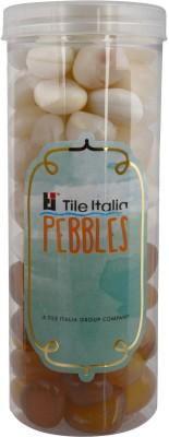 Tile Italia Pebbles Onyx White & Onyx Yellow Pebbles Polished Round Onyx Pebbles