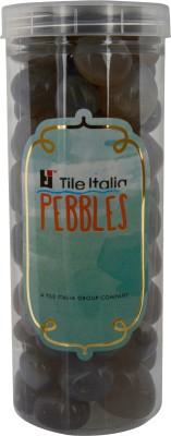 Tile Italia Pebbles Onyx Grey Pebbles Polished Round Onyx Pebbles