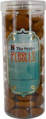 Tile Italia Pebbles Jaisalmer Pebbles Polished Round Marble Pebbles(Yellow 1 kg)