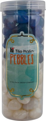Tile Italia Pebbles Onyx White & Onyx Blue Pebbles Polished Round Onyx Pebbles