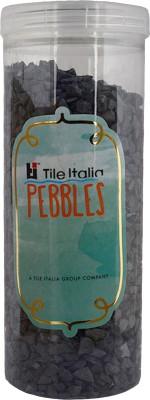 Tile Italia Pebbles Black Unpolished Chips Polished Angular Granite Stone