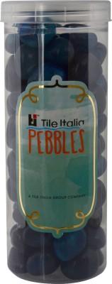 Tile Italia Pebbles Onyx Sea Blue Pebbles Polished Round Onyx Pebbles