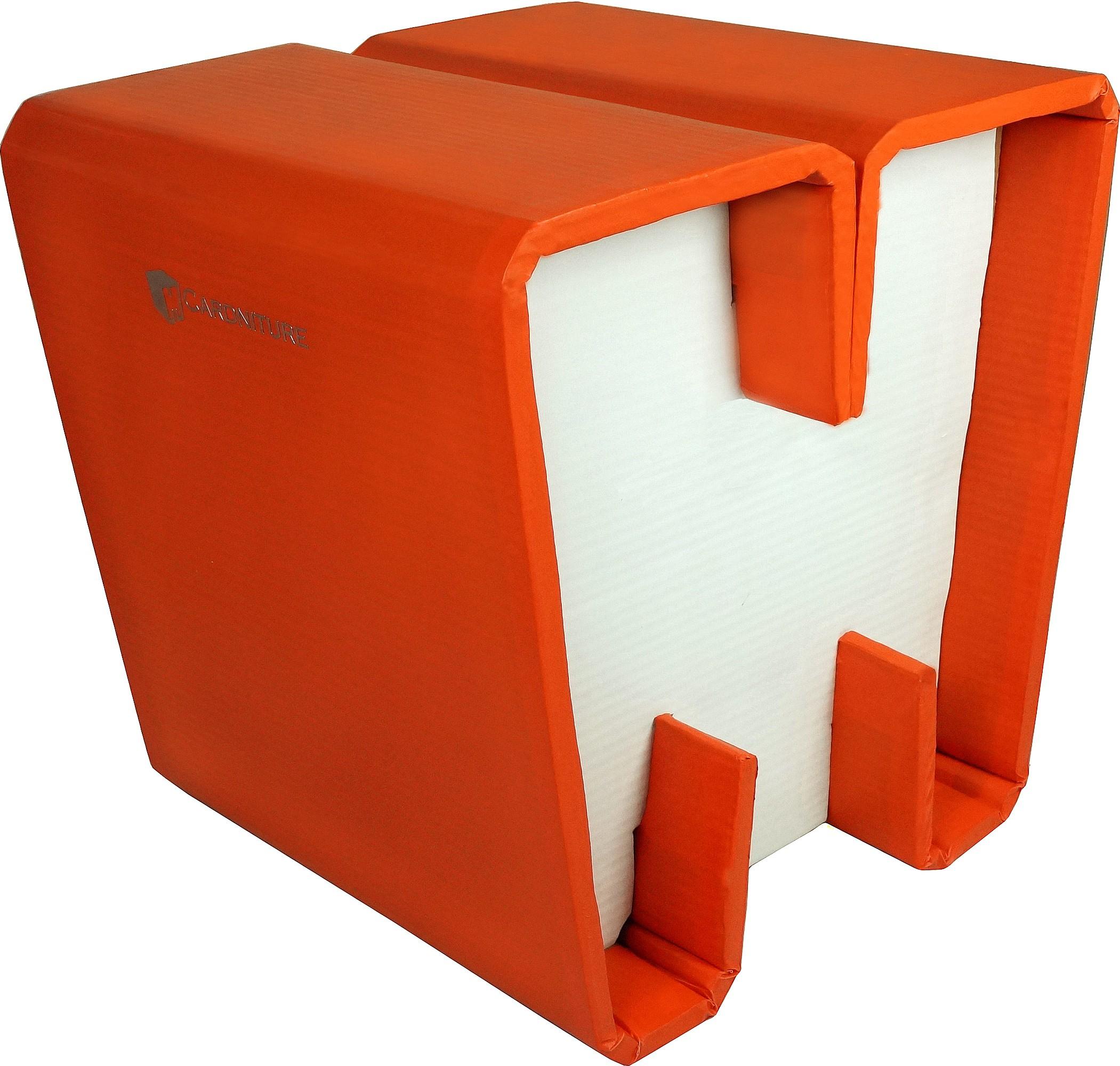 View Cardniture ZING Living & Bedroom Stool(Orange, White) Furniture (Cardniture)