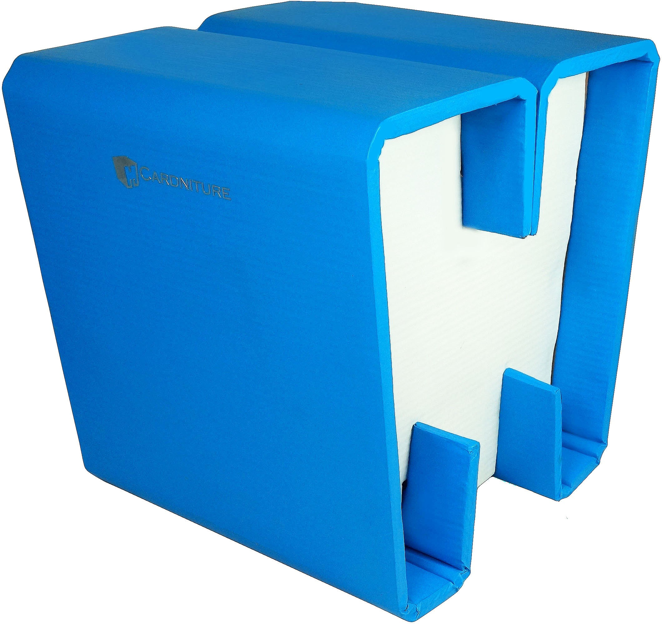 View Cardniture ZING Living & Bedroom Stool(Blue, White) Furniture (Cardniture)