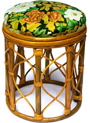 View Amour Cane Stool Living & Bedroom Stool(Gold) Furniture (Amour)