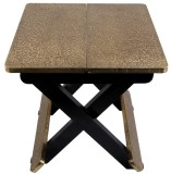 JaipurCrafts Stool (Gold, Black)