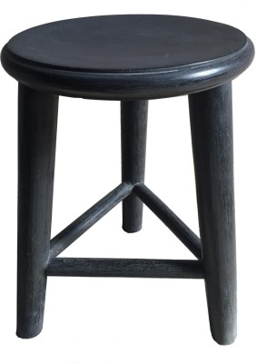 Salt & Grey Interiors Outdoor & Cafeteria Stool(Black)