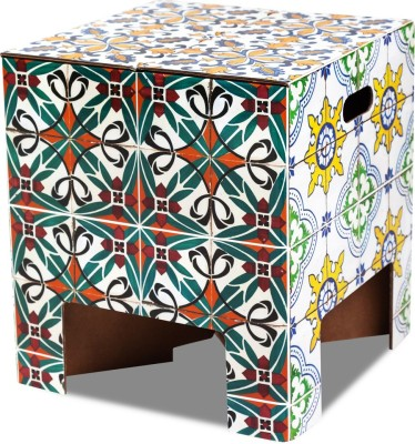 Dutch Design Brand Tiles Living & Bedroom Stool(Multicolor)