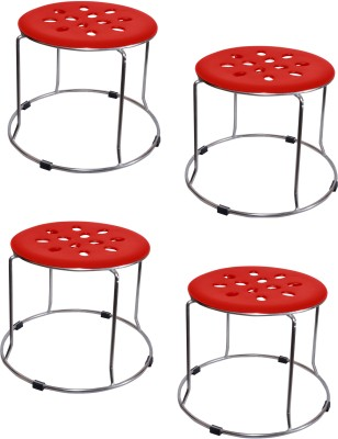Zecado Medium Red Outdoor & Cafeteria Stool