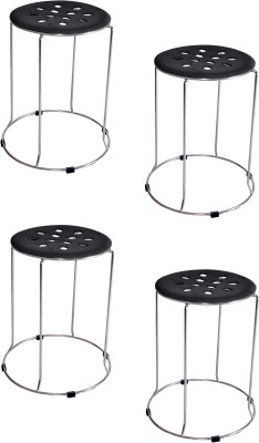 Zecado Large Black Outdoor & Cafeteria Stool