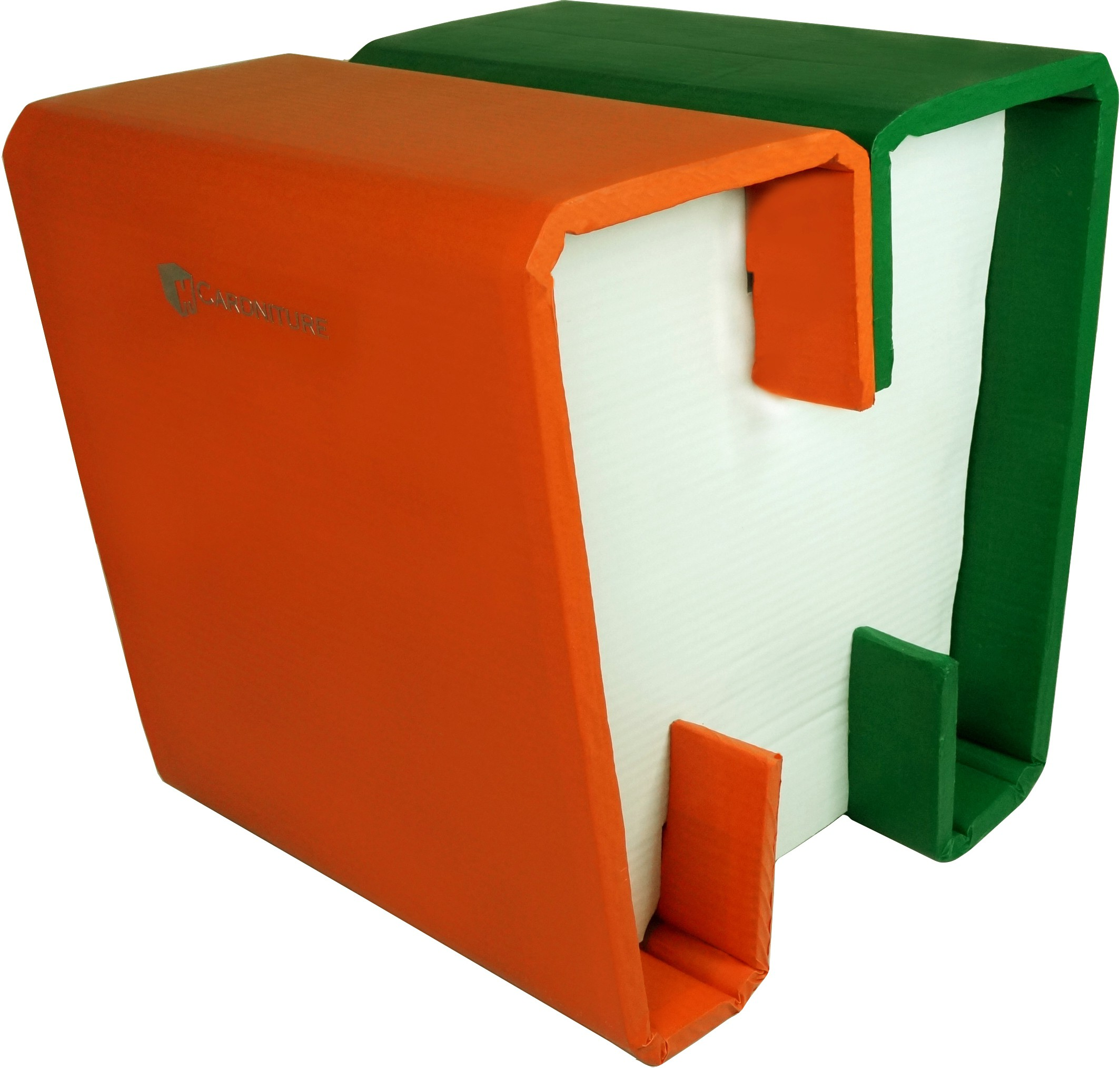 View Cardniture ZING Living & Bedroom Stool(Orange, White, Green) Furniture (Cardniture)