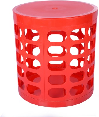 Casa Basic Sit & Store Stool (Red) Outdoor & Cafeteria Stool(Red)