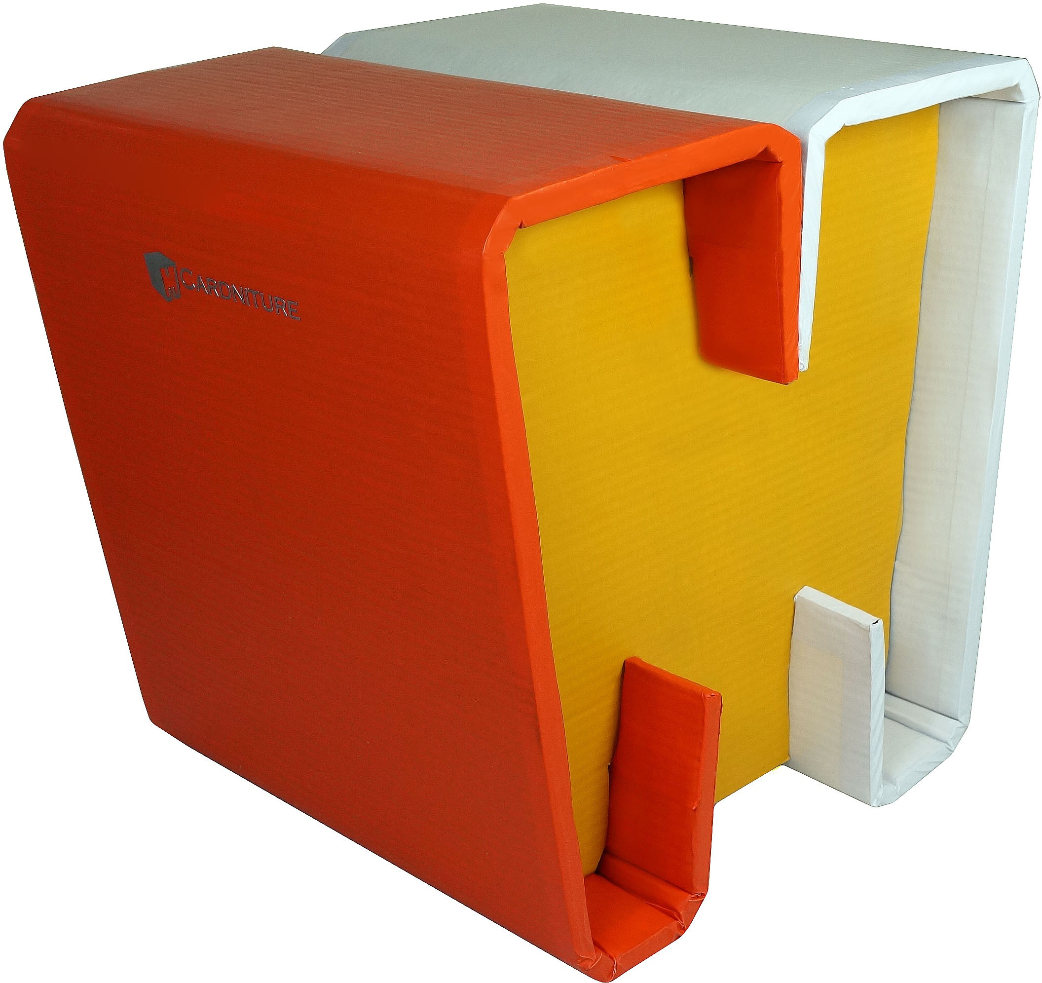 View Cardniture ZING Living & Bedroom Stool(Orange, Yellow, White) Furniture (Cardniture)