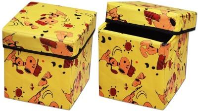 The Intellect Bazaar Foldable Eye-Catching Pattern Storage Stool