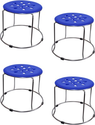 Zecado Medium Blue Outdoor & Cafeteria Stool
