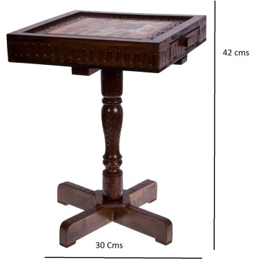 Smile2u Retailers Rajasthani hand worked painting Rectangle With Storage Stool
