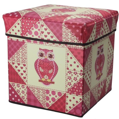 Boxmantra Living & Bedroom Stool(Pink, Beige)