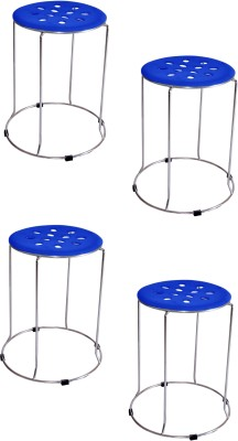 Zecado Large Blue Outdoor & Cafeteria Stool