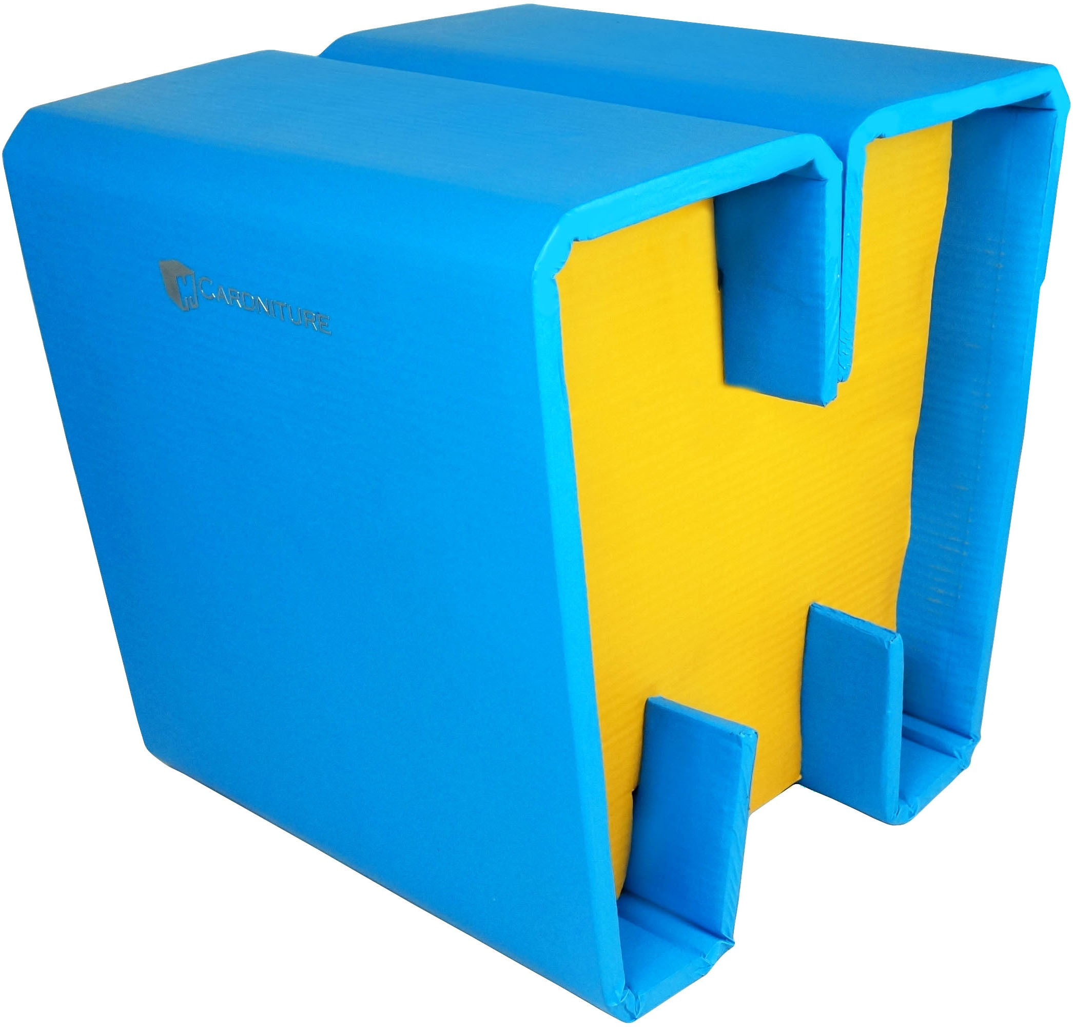 View Cardniture ZING Living & Bedroom Stool(Blue, Yellow) Furniture (Cardniture)