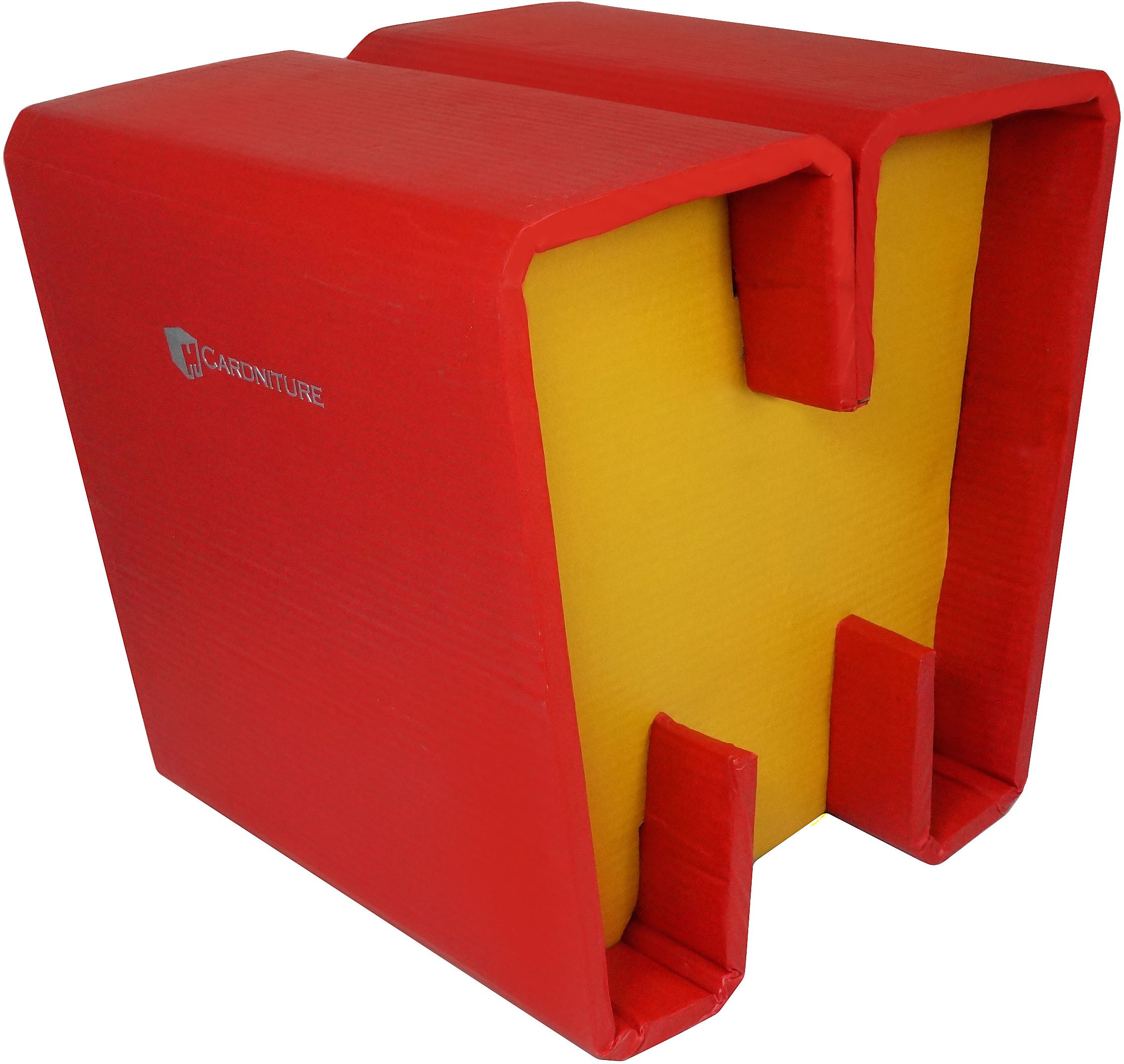 View Cardniture ZING Living & Bedroom Stool(Red, Yellow) Furniture (Cardniture)