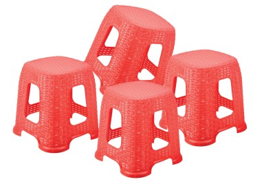 Sukhson India Bathroom Stool(Red)