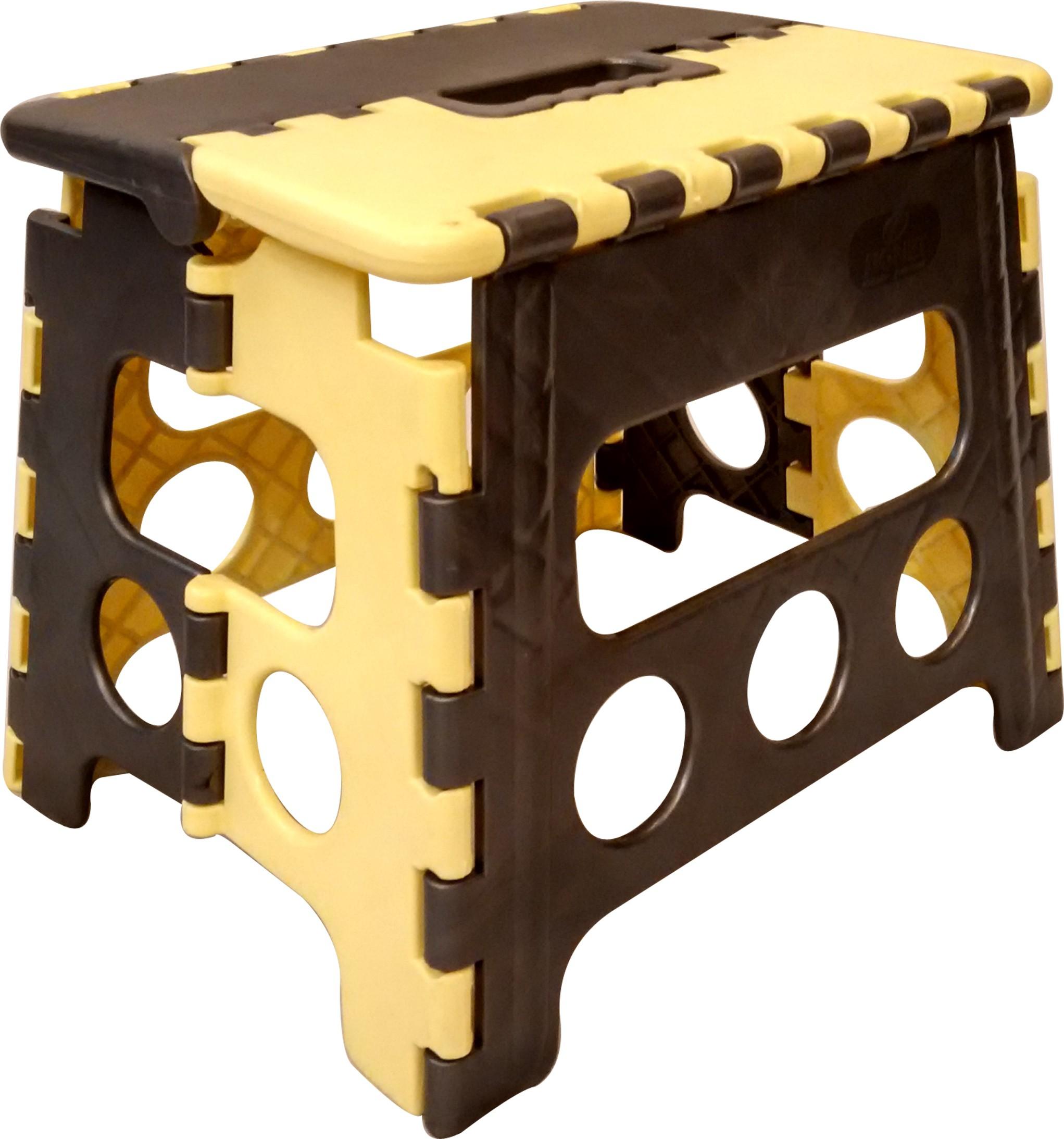 View CSM Living & Bedroom Stool(Black, Yellow) Furniture (CSM)