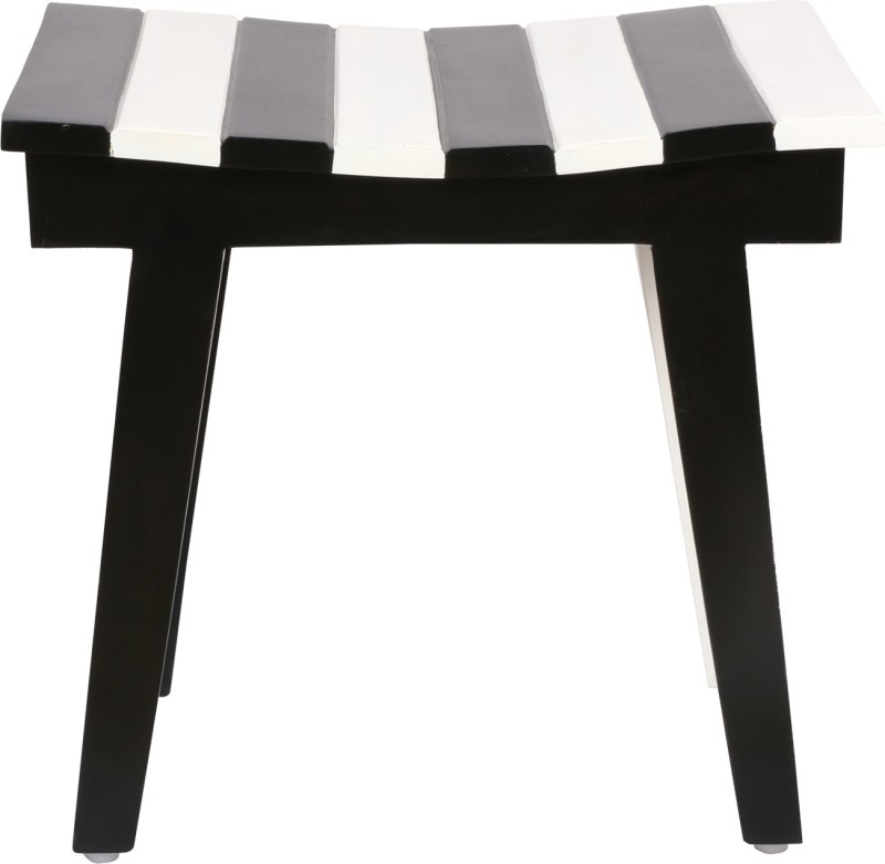 Smalshop Backhouse Keyboard Living & Bedroom Stool(White, Black)
