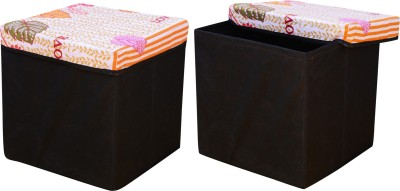 Fabriclair Foldable Eye-Catching Pattern Storage Living & Bedroom Stool