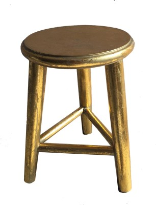 Salt & Grey Interiors Outdoor & Cafeteria Stool(Gold)