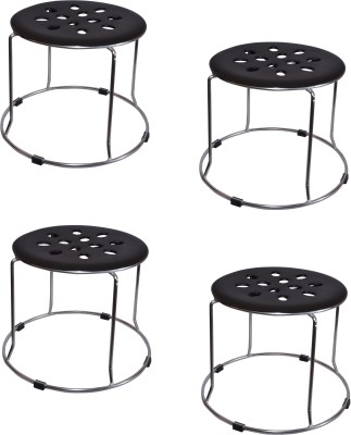 Zecado Medium Black Outdoor & Cafeteria Stool