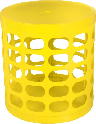Casa Basic Sit & Store Stool (Yellow) Outdoor & Cafeteria Stool(Yellow)