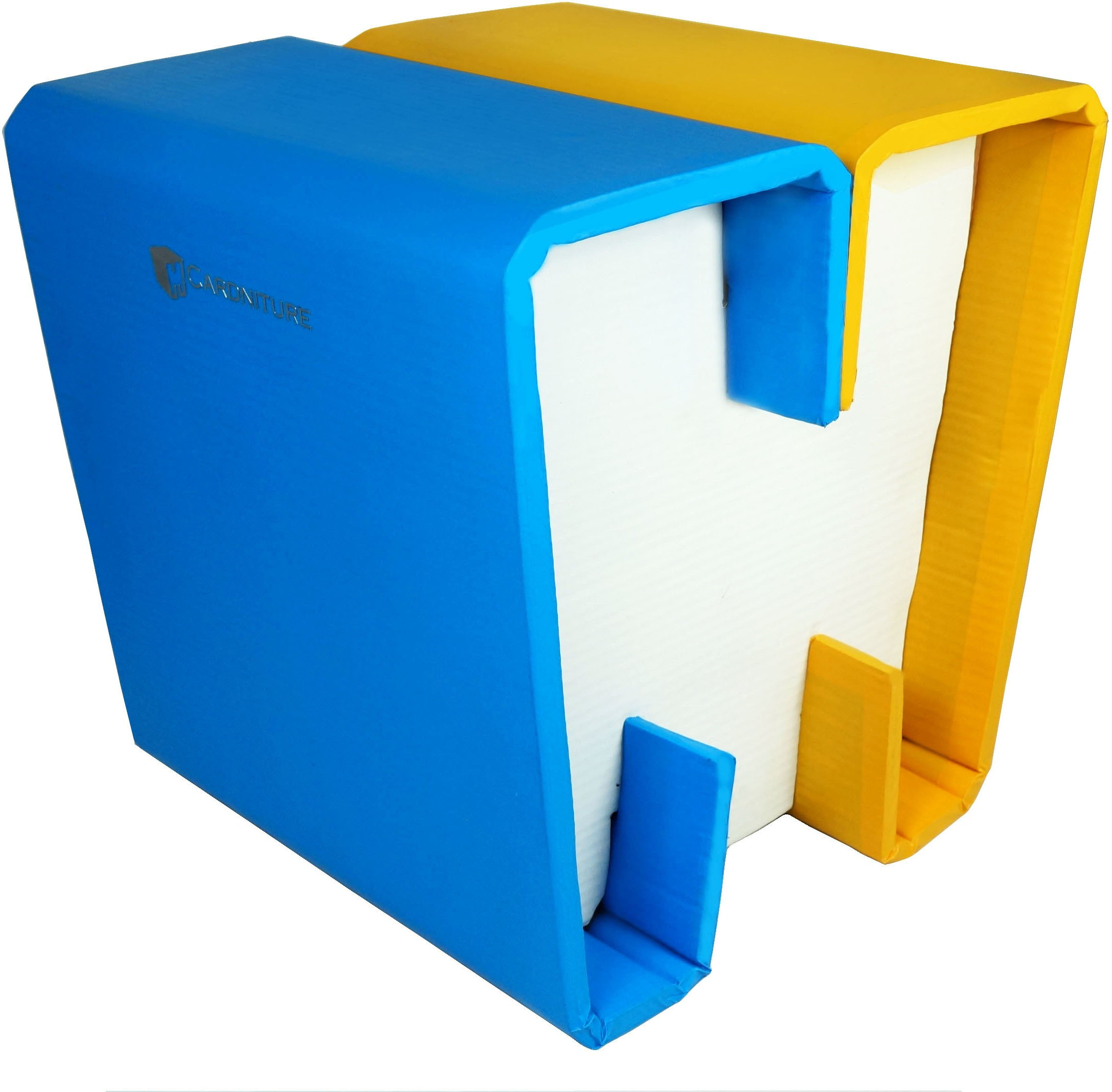 View Cardniture ZING Living & Bedroom Stool(Blue, White, Yellow) Furniture (Cardniture)