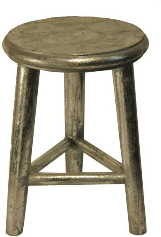 Salt & Grey Interiors Outdoor & Cafeteria Stool(Silver)