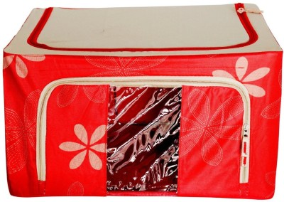 Packnbuy Large Foldable -1 Large Sized Fabric Storage Box Organizer With See-Through Window TRA74_557
