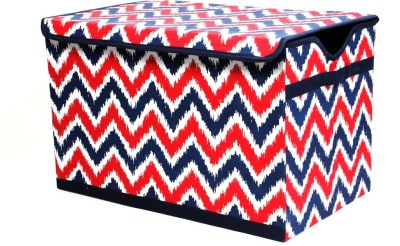 Bacati Mix N Match Navy Red Storage Toy Chest Storage Box(Multicolor)