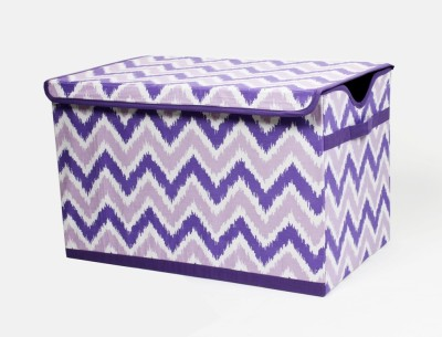 Bacati Mix N Match Purple Storage Toy Chest Storage Box(Multicolor)