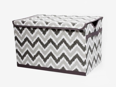 Bacati Mix N Match Grey Storage Toy Chest Storage Box(Multicolor)