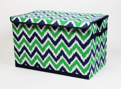 Bacati Mix N Match Navy Green Storage Box(Multicolor)