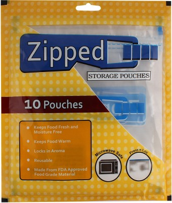 Zipped Plastic Storage Pouch(Pack of 40)