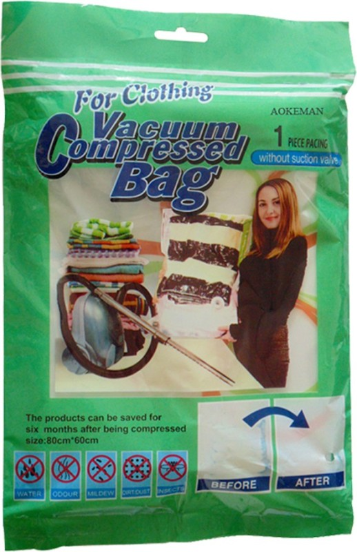 Aokeman 80x60 cms Travel Storage Vaccum Bags(Pack of 1)