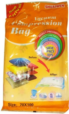 BIG HOME INDIA BH-VCB70100 Travel Storage Vaccum Bags(Pack of 1)