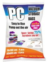 Prakshaal Creations 8 piece Set High Volume Storage Vaccum Bags(Pack of 8)