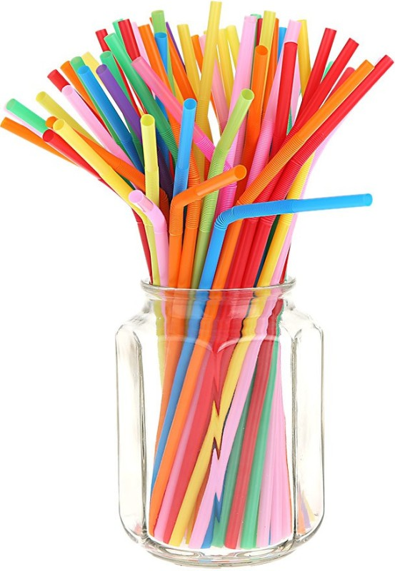 NXT GEN Bendable Drinking Straw(Multicolor, Pack of 100)