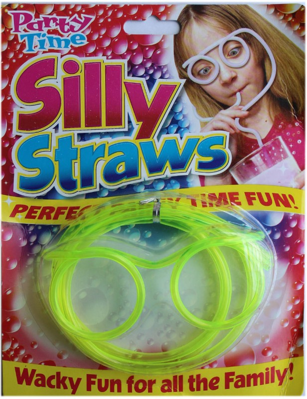 Party Time Goggle Drinking Straw(Green, Pack of 1)