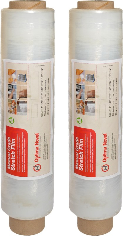 optimanovel 45 cm 1312 ft High Quality Hand Grade Stretch Film(0.9 mil)